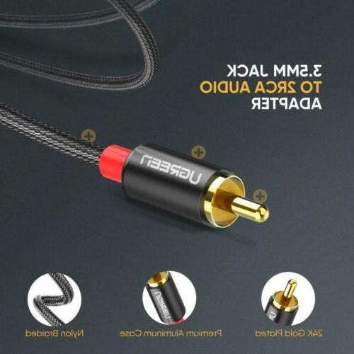 Ugreen RCA Stereo 3.5mm Audio AUX For