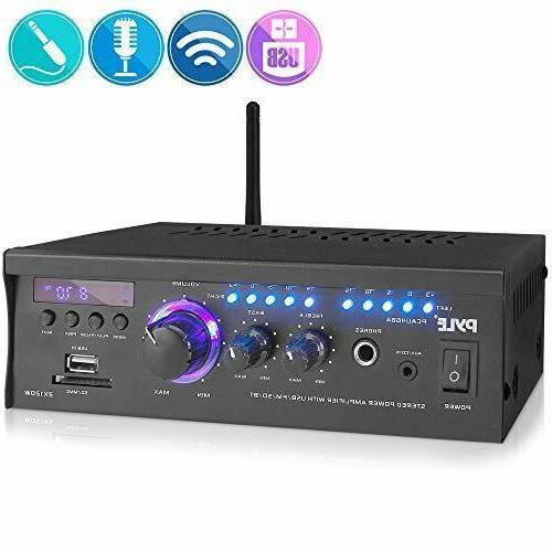 wireless bluetooth home stereo amplifier 2x120 watt