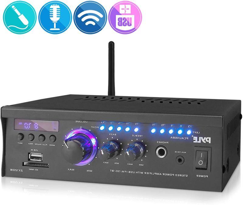 Wireless Bluetooth Home Stereo Amplifier - 2x120 Watt Power