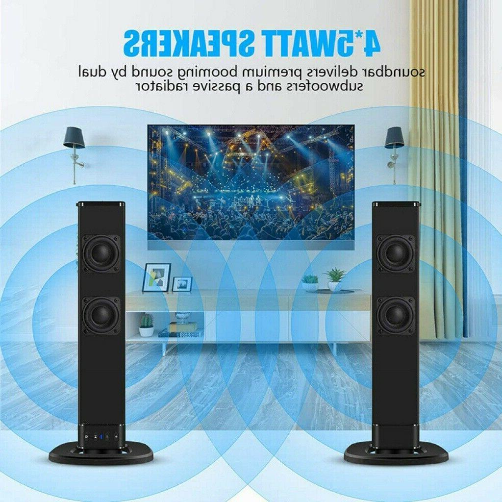 Wireless Sound Bar Soundbar Bluetooth Speaker Theater Stereo Subwoofer