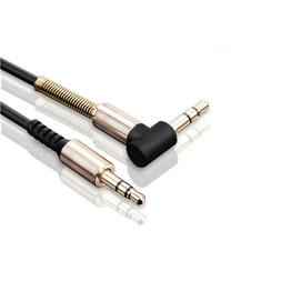 3-pack 3.5mm Male to M Aux Cable Cord L-Shaped Car Audio Hea