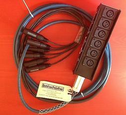 Whirlwind Medusa MINI Audio Snake: 6 inputs, 0 returns, 100