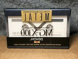 DENON MG-X100 Metal position brand new sealed audio cassette