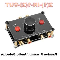 Mini 2-Way Stereo RCA Audio Selector Passive Preamp A/B Swit
