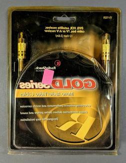 Gold Series Mono Audio/video Cable 12-feet Radioshack Model