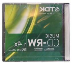 TDK Music 1X-4X 80-Min Digital-Audio CD-RW 10-Pak in Ultra-S