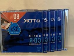 New TDK 80 MIN Up to 32X Compatible Music CD•R For Audio R