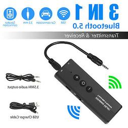 Bluetooth 5.0 Transmitter Receiver 3 IN 1 Wireless Audio 3.5