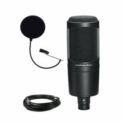 Audio Technica AT2020 Condenser Studio Microphone Bundle wit