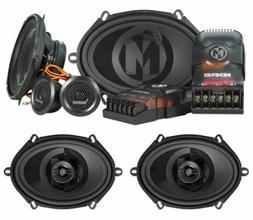 """Pair Memphis Audio PRX570C 5x7"""" Component+PRX57 5x7"""" Car Aud"""