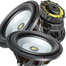 Pair of Gravity 12 Inch 2400 Watt Car Audio Subwoofer w/ 4 O