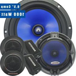 Pair of Audiotek 1000W 6.5-Inch 2-Way Car Audio Component Sp
