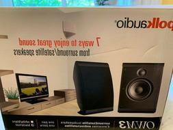 Polk audio speakers surround/satellite OWM3 NIB