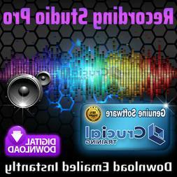 Professional Recording Studio Audio Editing Software on 32GB