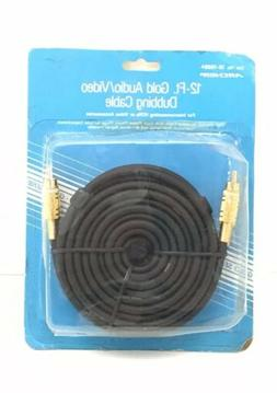 RADIO SHACK 12-ft Gold Audio / Video Dubbing Cable ~ VCR's /