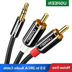 UGREEN RCA Cable 3.5mm Male to 2RCA Audio Stereo Y Splitter