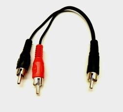 RCA Plug Male to 2 RCA Plug Male Y Splitter Audio Video Adap