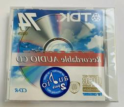 TDK Recordable Audio Cd 2 Pack 74 Minute