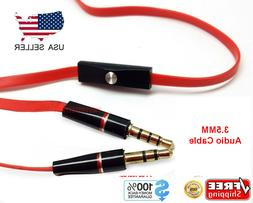 Replacement 3.5mm Audio Cable with Mic Aux Cord For Beats by
