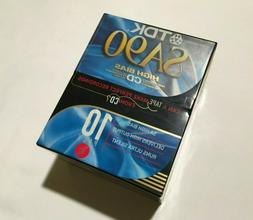 TDK SA 90 Blank Audio Cassette Tapes - High Bias - 10 Pack -