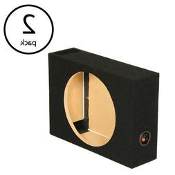Q Power Single 12 Inch Vented Shallow Subwoofer Audio Sub Bo