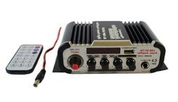 Stereo Amplifier for Car Motorcycle Boat Bar Bluetooth USB S