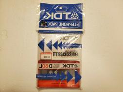 TDK Telephone Pack  Blank Audio Cassette Tapes Japan - RARE!