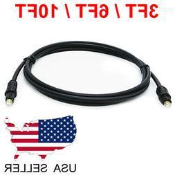 TOSLink Fiber Optical Digital Audio Cable 3FT 6FT 10FT SPDIF