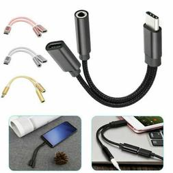 Type C to 3.5 mm and Charger 2 in1 Headphone Audio Jack USB