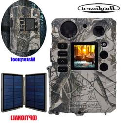 US Trail Camera 18MP Hunting Game Cam Video/Audio Solar Powe