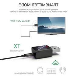 USB Wireless Bluetooth 5.0 Transmitter Receiver AUX Audio Ad