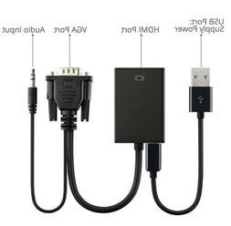 Video Cable Converter Audio TV AV HDTV Adapter 1080P+VGA Mal