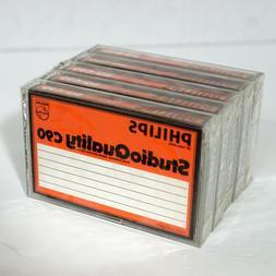 Vintage Philips SQ-C90 Sealed Audio Cassette Tape Lot of 5 M