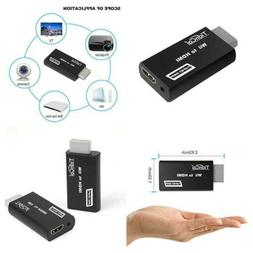 Wii To Hdmi Converter Compatible W Full HD Device 3.5Mm Audi