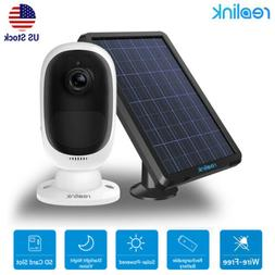 Reolink Wireless Security Camera Rechargeable 2-Way-Audio Ar