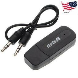 Wireless USB Bluetooth Music Audio Receiver Adapter 3.5mm Do