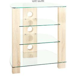 Wood AV Component Media Stand Stereo Cabinet, Modern Audio-V
