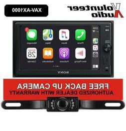 """Sony XAV-AX1000 6.2"""" Double Din Media Receiver Apple CarPlay"""