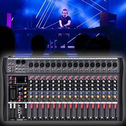 YIIYYAA 16 Channel  Professional Live Studio Audio Mixer Pow