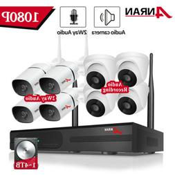 ANRAN 2way Audio Wireless 1080P Home Security Camera System